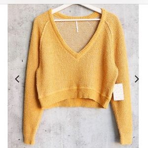 NWT Free People High Low Textured Slouchy Sweater